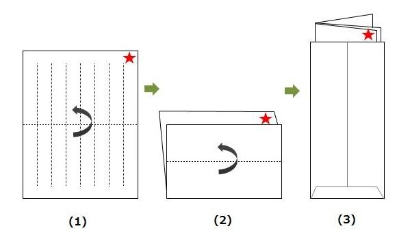 四つ折りの便箋の画像