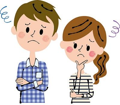 悩む夫婦の画像