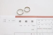 婚姻届けの画像